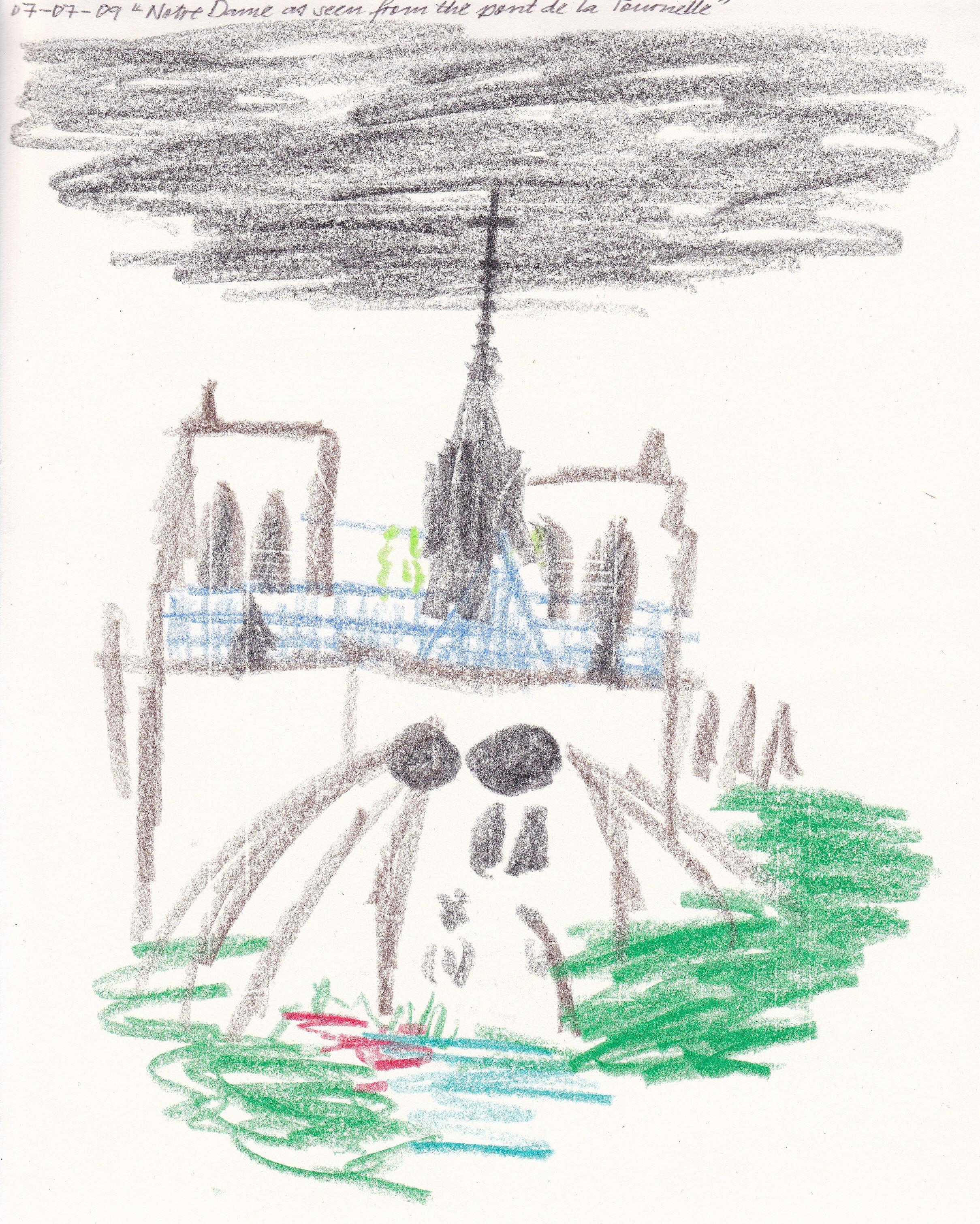 Notre-Dame as seen from the pont de la Tournelle, by Dean Kyte
