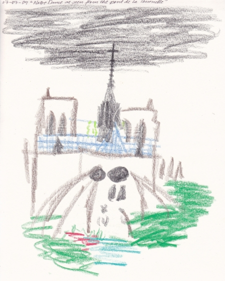 Notre-Dame as seen from the pont de la Tournelle, by Dean Kyte
