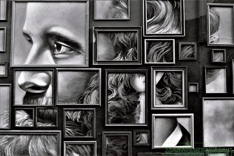 Street art, Hanna lane, South Melbourne, by Dean Kyte.