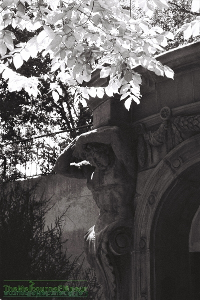 Atlante, Colonial Bank of Australia, University of Melbourne, photographed by Dean Kyte.