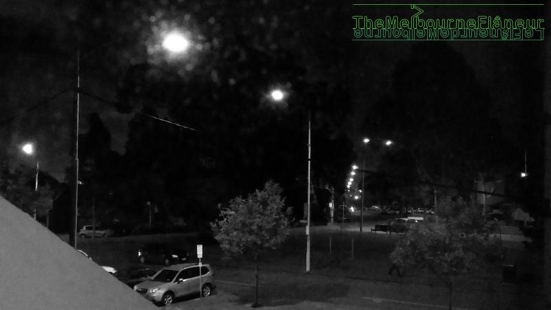Hawke street, West Melbourne, night, by Dean Kyte.