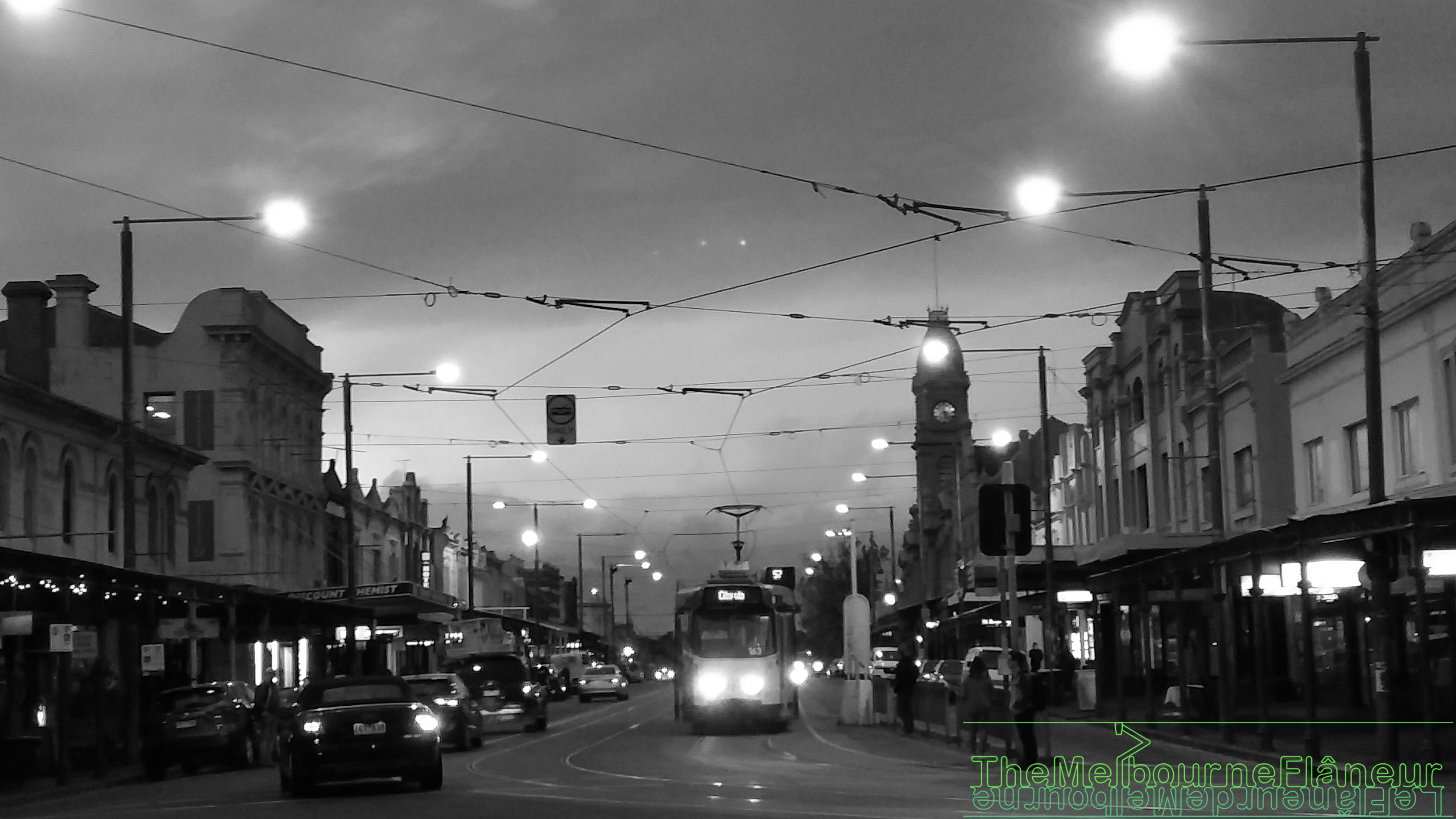 Errol street, North Melbourne, evening, photographed by Dean Kyte.
